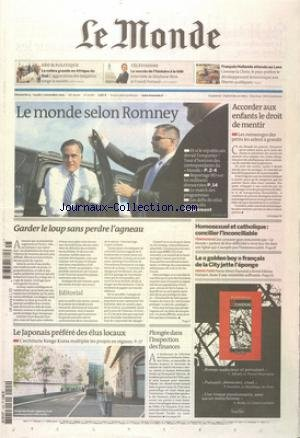MONDE (LE) [No 21086] du 04/11/2012