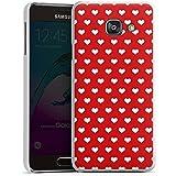 Samsung Galaxy A3 (2016) Housse Étui Protection Coque Petit c½ur Polka c½urs Rouge