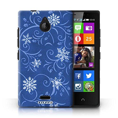 Kobalt® Imprimé Etui / Coque pour Nokia X2 Dual Sim / Noir conception / Série Motif flocon de neige Bleu