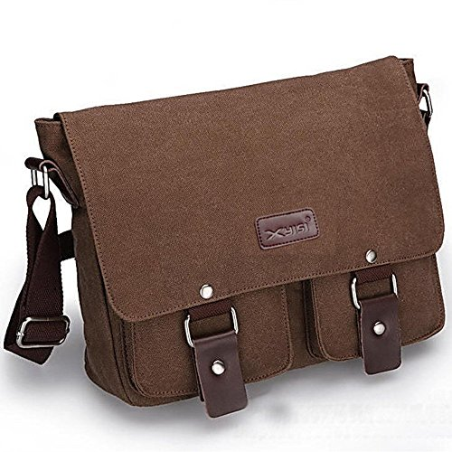 Wewod , Borsa Messenger  Donna, Grigio (Multicolore) - D0016 marrone
