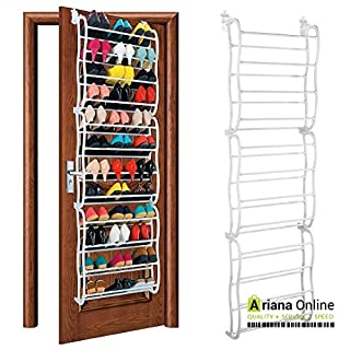 ARIANA HOMEWARE NEW 36 Pair Over The Door Hanging Shoe Rack Shelf Storage Stand Organiser Hook Holder