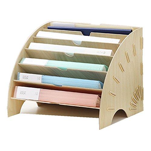 5-er Set Stehsammler pappe Zeitschriftenbox Kraftpapier Aufbewahrungsbox Datei Organizer Aktenhalter Zeitschriftenhalter B/üro Office Desktop DIY Papiercontainer Schublade Papier