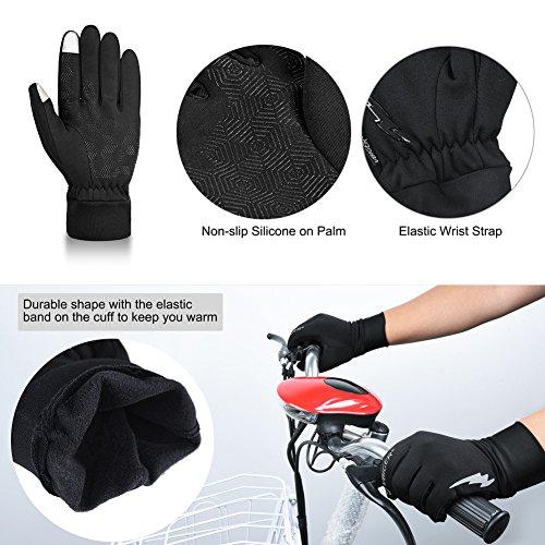 Vbiger TouchscreenHandschuhe Sport Handschuhe Trainingshandschuhe Rutschfest Handschuhe Vollfingerhandschuhe Trainingshandschuhe - 5