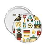 DIYthinker Pulsante di calcio Birra Salsiccia Fisarmonica Brasile Culturale Elemento Pin circolari Distintivo Abbigliamento decorazione dono 5Pcs L Multicolore