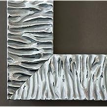 Espejo de pared Espejo Baño piso Espejo perchero Espejo–más de 200tamaños–Bologna Plata 6,2, Medida exterior, plata, 50 x 100