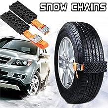 Cadenas Nieve, 2 Piezas Antideslizantes Para Nieve SUV Neumático Cadenas de Emergencia Antideslizante y Ajustable