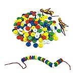 Tagke Kindergarten DIY Threading Spielzeug Abacus Perlen Runde Perlen Blöcke 200 Perlen Hand-Auge-Koordination Spielzeug