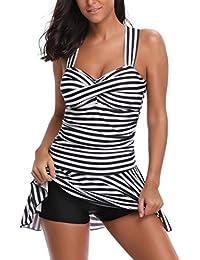 Badeanzug Damen Sportlich , Yogogo Einteiliger Bikini Set   Pad Push Up  Badeanzüge Figurformende   Bademode Tankini   Schwimmen Anzüge… 7758805d82