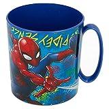 2656; Spiderman Mikrowelle Becher; 350 ml Fassungsvermögen; Kunststoff-Produkt; Kein BPA