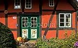 druck-shop24 Wunschmotiv: Darßer Haustür in Wustrow, Mecklenburg-Vorpommern #38110580 - Bild hinter Acrylglas - 3:2-60 x 40 cm/40 x 60 cm