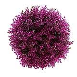 MagiDeal Künstliche Pflanzenkugel Buchskugel Kunstblumen Kunstpflanzen im Buchsbaumstil - Lila Eukalyptus, 29cm