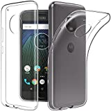 Shanice Exclusive Soft Silicone TPU Jelly Crystal Clear Case Soft Perfect Fitting Protection Ultra Thin 0.3mm Clear Transparent Flexible Soft TPU Slim Back Case Cover For - Motorola Moto G5S - Transparent