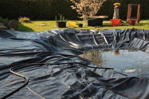 confronta il prezzo online Telo per laghetto, telo per laghetto da giardino, 0,5 mm, nero, telo per il laghetto del giardino, struttura laghetto, diverse dimensioni … (lunghezza 4 m, nero, larghezza 2 m)
