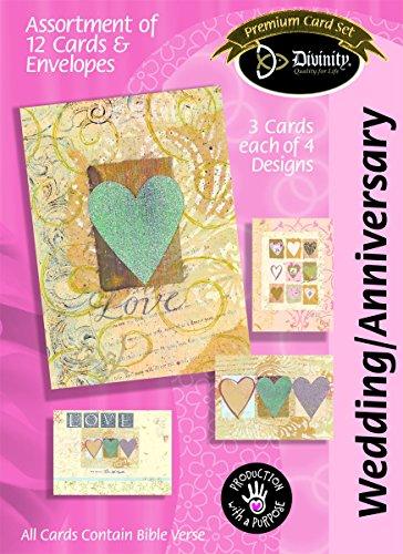 Divinity Boutique Grußkarte Sortiment: Jahrestag/Hochzeit, PAPER HEARTS (22384N)