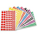AGIPA playshapes labels. Circles. 1040 Pcs – autocollantes (Multicolore, Various)