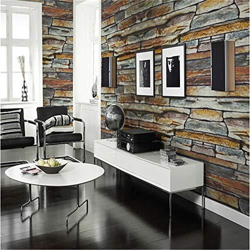 Tapeten Wandbild Aufkleber 4 Farbe Retro Kultur Ziegelstein Stein Faux Bricks Prepasted Vinyl Tapete Persönlichkeit Wasserdicht Schlafzimmer Tapete -