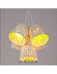 Restaurante comedor tres personalidad creativa lámpara barra colgante moderno simple lámpara de comedor cinco dormitorios,Iluminación de LED blanco solo