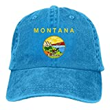 YYERINX Montana Flag Adjustable Cotton Hat