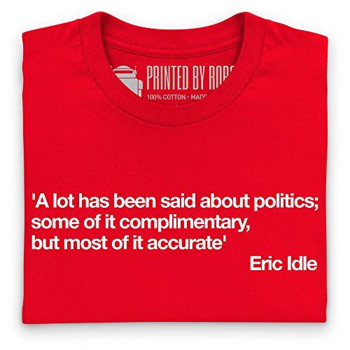 A Lot Said About Politics T-Shirt, Herren Rot