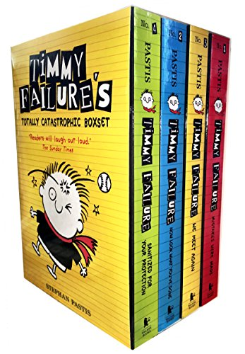 Timmy Failure Totally Catastrophic 4 Books Collection Box Set by Stephan Pastis (Timmy Failure: Mistakes Were Made,Timmy Failure: Now Look What You've Done,Timmy Failure: We Meet Again, Timmy Failure: Sanitized for Your Protection)