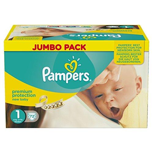 Preisvergleich Produktbild Pampers Premium Protection New Baby Gr. 1 Newborn 2-5kg HalbmonatsBox, 72 Stück