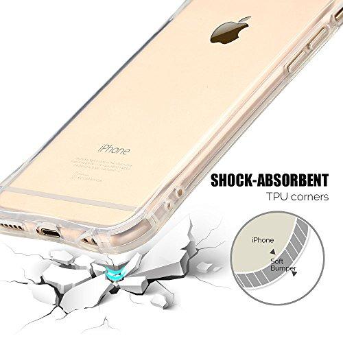 Coque iPhone 6 / 6S Plus (5.5 pouce) , TPU Transparente Case Silicone Slim Souple Étui de Protection Flexible Soft Cover Anti Choc Ultra Mince Couverture Bumper Anfire Housse pour iPhone 6 Plus - Vert limpidité