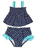 Attraco Baby Schwimmanzug Mädchen Einteiler Baby Badeanzug Gepunktet Badebekleidung Baby Rose 12-18 Monate