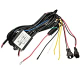 DRL Control Switch Harness - SODIAL(R) Car DRL Daytime Running Light Dimmer Dimming Relay Control Switch Harness 12V
