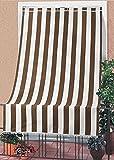 Tenda da sole tessuto resistente per esterno con anelli lavabile frange pizzo - Marrone