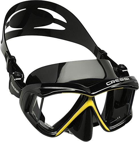 5edf86cb19be8 Cressi Panoramic 4 Window Dive Mask - Black/Yellow