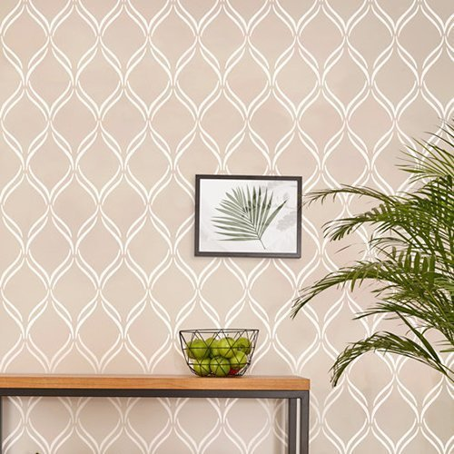 twist-lattice-wall-stencil-by-stencilit-expedited-3-days-delivery-wall-accent-reusable-template-larg
