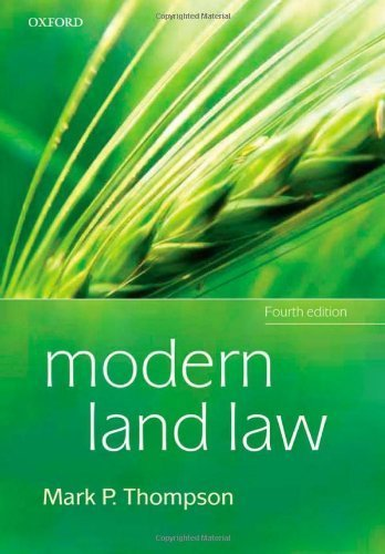 Modern Land Law by Thompson, Mark P. (2009) Paperback