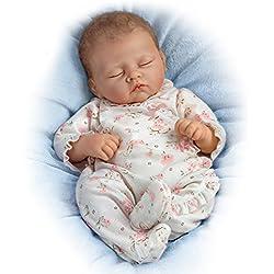 Ashton Drake - Sophia - Muñeca bebé realista - Sonido de respiración y latidos del corazón - Piel de vinilo RealTouch