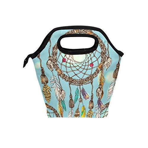 LIANCHENYI Siga su sueño atrapasueños enfriador bolsa caliente almuerzo bolsas para el almuerzo para el trabajo escolar portátil comida bolso alimentos contenedor bolsa para picnic