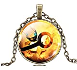 Inception Pro Infinite Pkmn2 - Collana Pokemon Go Sfera Poke' Pokeball (Arancio)
