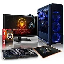 Fierce PROTO PC Gamer Bundle - Rápido 2 x 3.9GHz Dual Core Intel Core i3 7100, 1TB Disco duro, 16GB de 2133MHz DDR4 RAM/Memoria, NVIDIA GeForce GTX 1050 2GB, HDMI, USB3, Wi-Fi, Entrada perfecta en juegos de PC, Windows no Incluido - Teclado (UK/QWERTY), Raton, monitor de 21.5 pulgadas, auriculares, Garantía De 3 Años (441012)