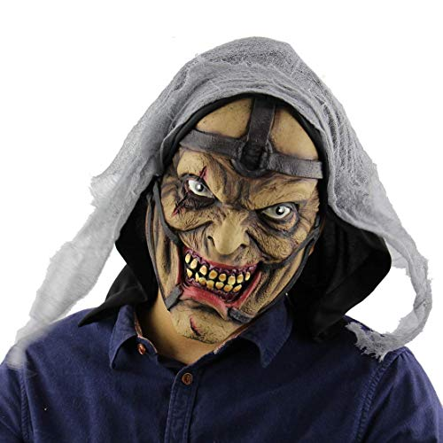 Kostüm Frauen Pimp Halloween - Tcbz Halloween-Maske, Horror-Zauberer, Pimp-Monster-Maske für Männer, Steig-Maske, sicherer Latex, halber Kopf-Geister-Maske für Halloween, Kostümparty und Maskerade