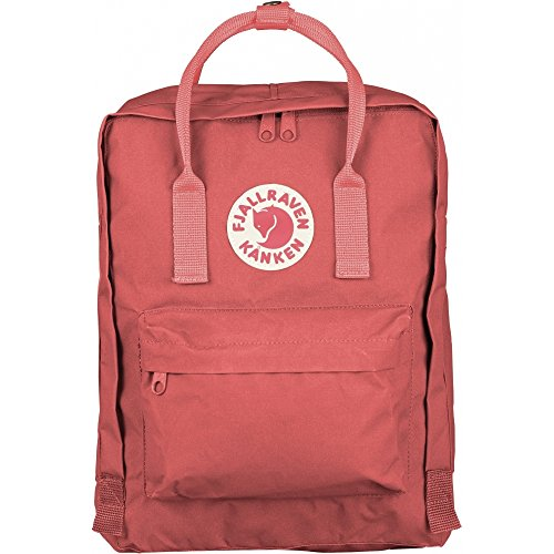 Fjällräven Lightweight Kanken Kids' Outdoor Hiking Backpack,Peach Pink, 13 cm x 27 cm x 38 cm, 16 L