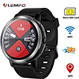 Best Orologi LEMFO Android - LEMFO LEM8 - Android 7.1.1 4Gorologio intelligente, Fotocamera Review