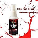 Kathope 30 ML Realistico Sangue Artificiale Spray Halloween Party Phantasie Make Up Splatter Bloods Ematopoietici Requisiti Decorazione
