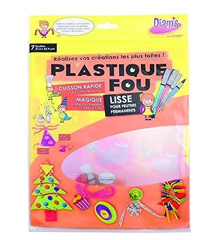 Papier Cristal - Diam's DI42261 Pack de 7 Feuilles Plastique