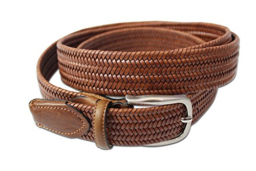 high-quality-full-leather-woven-belt-with-smart-stretch-inside-men-women-54-brown