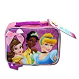 Disney Princesses Pink Girls School Lunch Box Bag