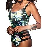 Luckycat Mujer Bañador Traje de Baño Deporte Halter Push Up Atractivo Bikinis Conjuntos Ropa de Baño