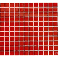 mosaico de red mosaico azulejos cuadrado Crystal Uni Rojo Cristal Mosaico translúcido transparente 3d azulejos Espejo de pared Baño o cocina