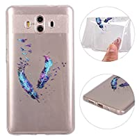 Huawei Mate 10 Soft Gel Case, Huawei Mate 10 Back Cover Case, Rosa Schleife Transparent Crystal Clear Soft Gel TPU Silicone Bumper Phone Case Protective Shell Skin Cases Covers for Huawei Mate 10