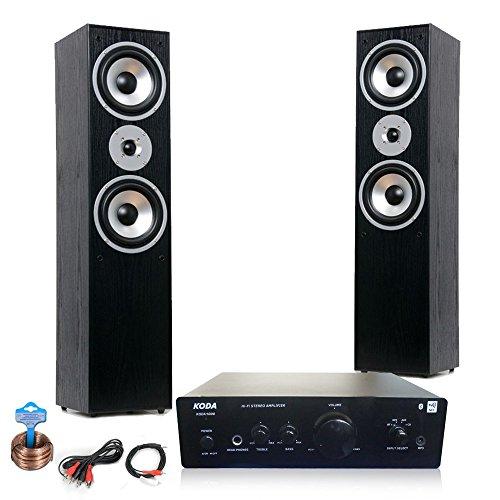 etc-shop HiFi Heimkino Musikanlage Bluetooth AUX Verstärker Standboxen Kabel HiFi-Koda 1