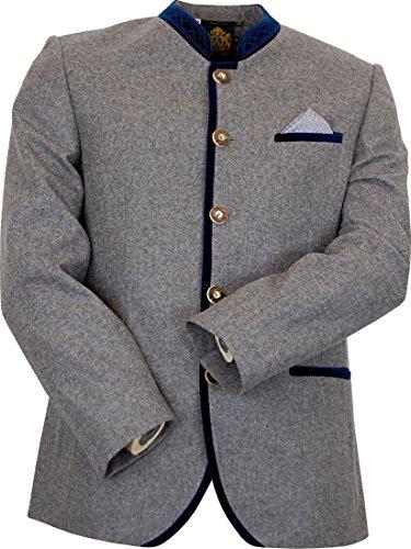 Hammerschmid Trachten Janker Trachtenjacke Mike, Größe:50, Farbe:grau - blau