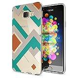 Samsung Galaxy A3 2016 Coque Protection de NICA, Housse Motif Silicone Portable Premium Case Cover Transparente, Ultra-Fine Souple Gel Slim Bumper Etui pour A3-16, Designs:Retro Lines