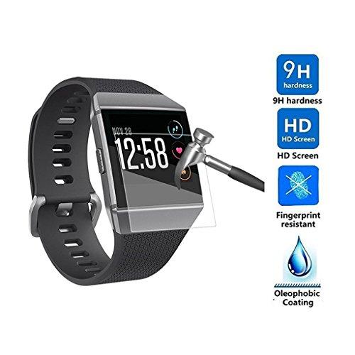 Preisvergleich Produktbild Blendfreie Displayschutz Folie Ultra Clear Premium gehärtetes HD dünn Schutz Film Cover für Fitbit Ionic